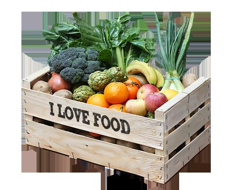 Caja ecol gica fruta y verdura 100 org nica i love food - Comprar cajas de fruta ...