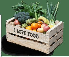 caja / cesta mixta: 50% fruta ecológica y 50% verdura ecológica