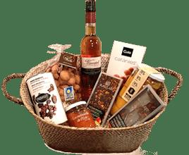 cestas de navidad con productos ecológicos: turrones eco, cava ecológico, chocolates, etc.