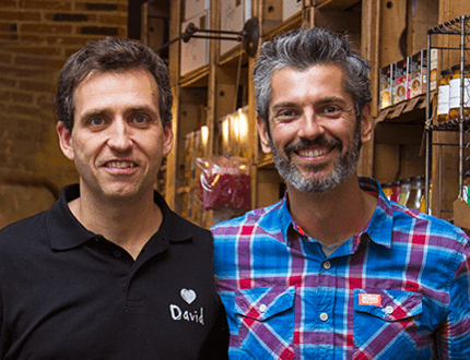 David carbó y Chema Bescós, fundadores de I Love Food