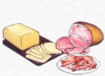 jamón dulce, quesos